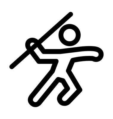 标枪投掷者矢量图标