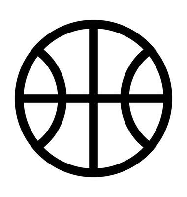 篮球轮廓矢量图标