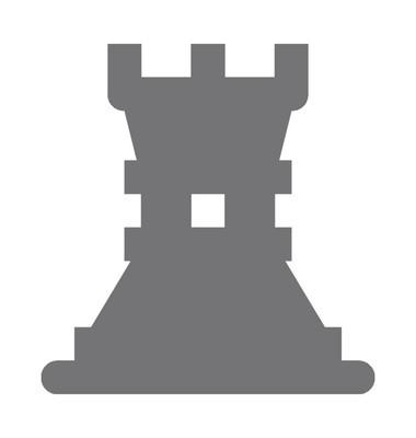 棋塔矢量图标