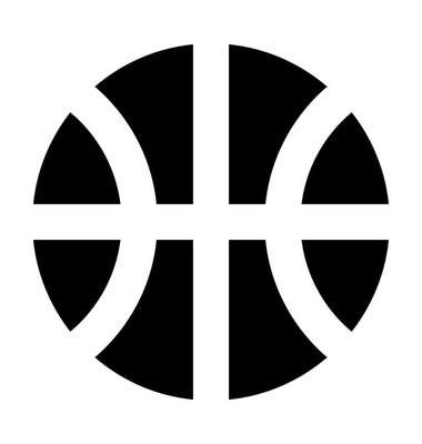 篮球平面矢量图标