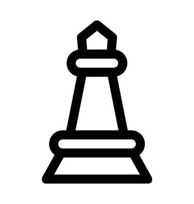 国际象棋棋子矢量图标