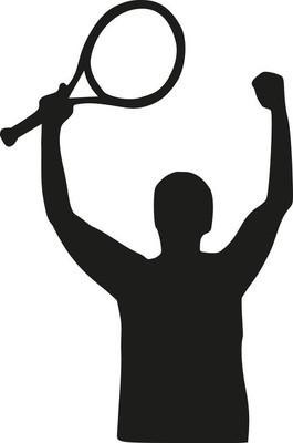 网球运动员赢得