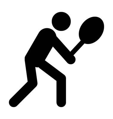 网球运动员矢量图标