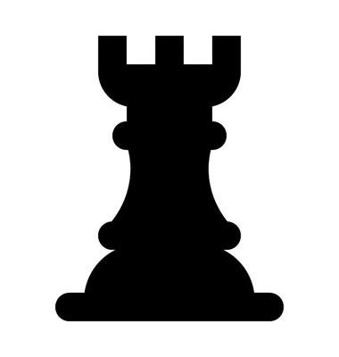 棋塔平面矢量图标