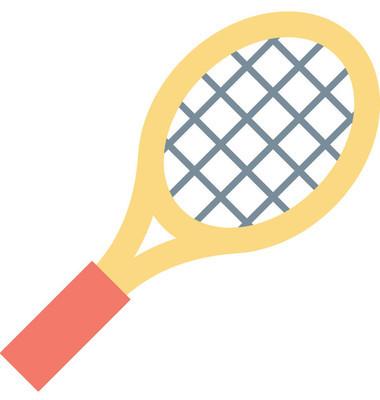 网球球拍矢量图标