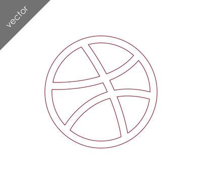 篮球平面图标