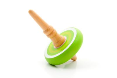 绿色旋转的陀螺