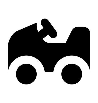 玩具汽车矢量图标
