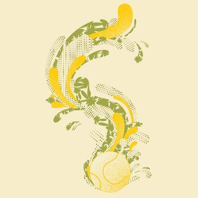网球与图形线索