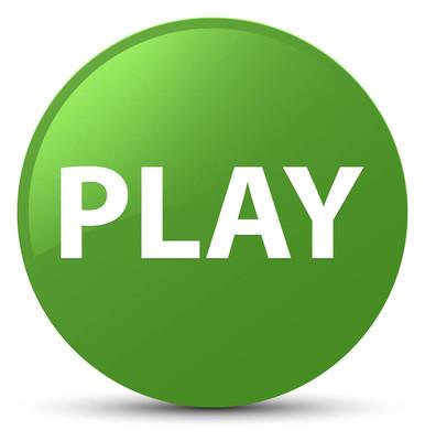 播放软绿色圆形按钮