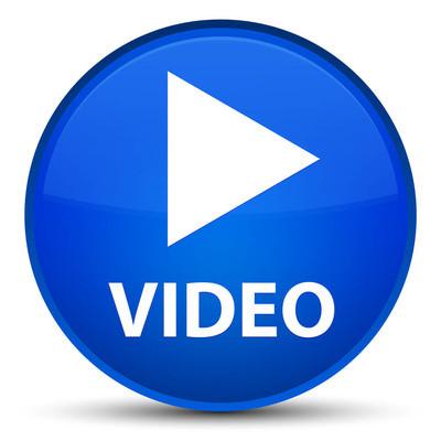 视频专用蓝色圆形按钮