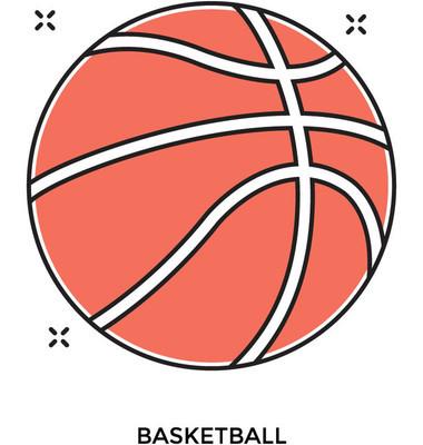篮球彩色的矢量图标