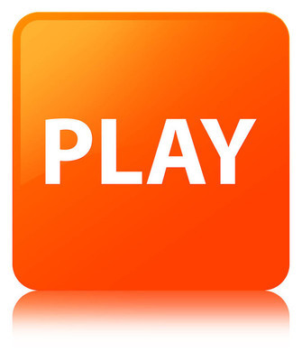 播放橙色方形按钮