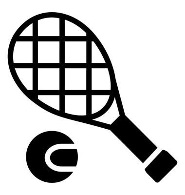 网球拍和球代表壁球或草地网球比赛