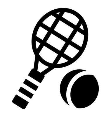 网球拍和球代表网球比赛