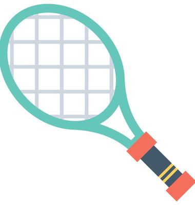 网球平面矢量图标