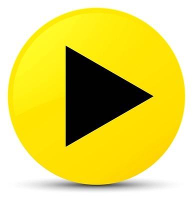 播放图标黄色圆形按钮