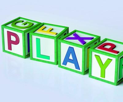 块显示玩享受和游戏