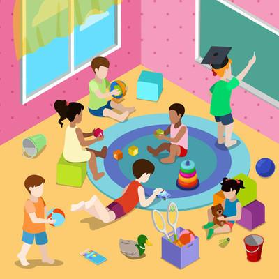 儿童在幼儿园绘画