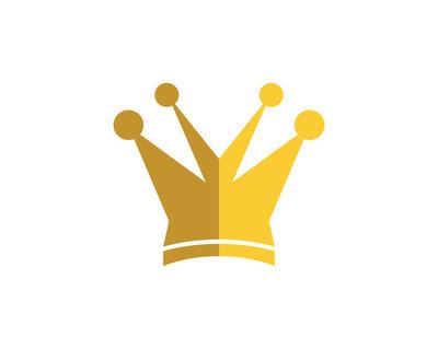 皇冠 Logo 模板矢量图