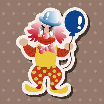 小丑的主题元素矢量 eps