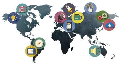 社交媒体,国际连接概念