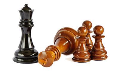 在白色背景上孤立的棋