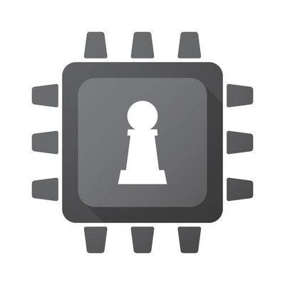 孤立的芯片与典当棋图