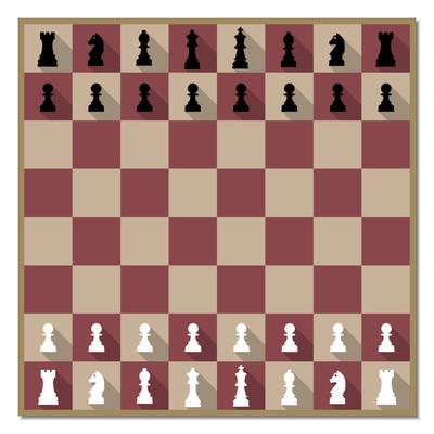 棋盘与数字矢量图