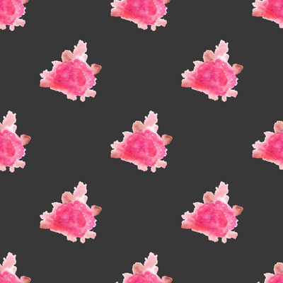 Watercolor rose flower hand painted seamless pattern background