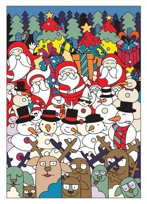 矢量图的手绘涂鸦圣诞节背景