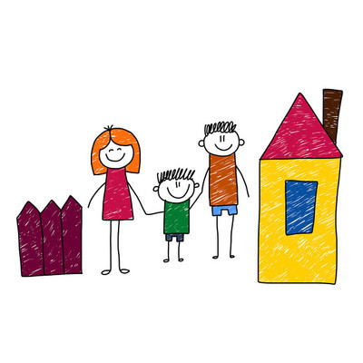 幸福的家庭。矢量图