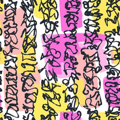 纺织无缝涂鸦涂鸦图案