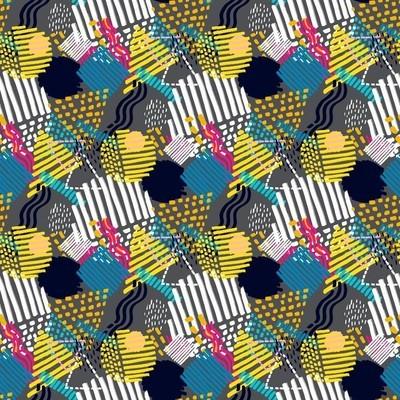 Memphis seamless  pattern in retro style.