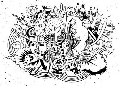 疯狂的涂鸦社会,涂鸦绘画风格