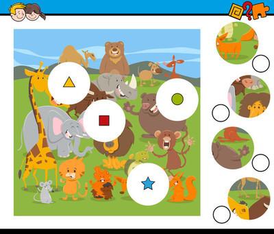 匹配部分游戏与卡通野生动物