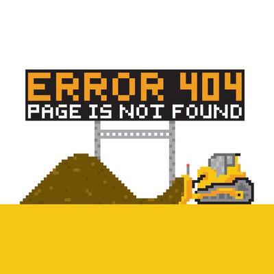 像素艺术风格游戏错误 404 矢量图