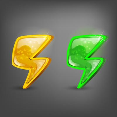 卡通图标能源