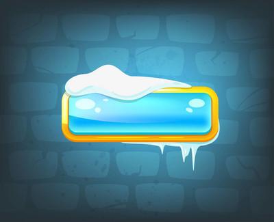 游戏长冰蓝色按钮