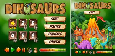 游戏模板与恐龙主题