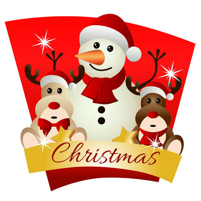 圣诞节与驯鹿玩偶主题雪人
