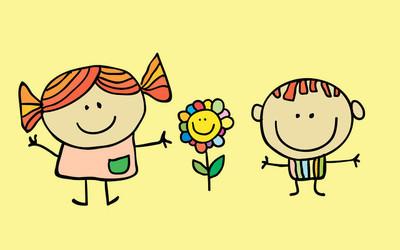 卡通儿童游戏的矢量插画