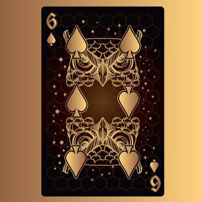六黑桃纸牌与原创设计