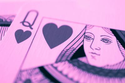 红心皇后宏, 算命卡。神秘卡日