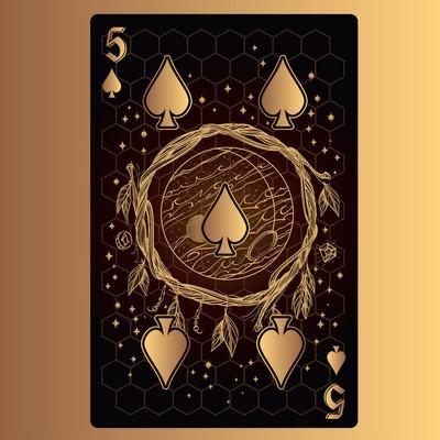 五黑桃纸牌与原创设计