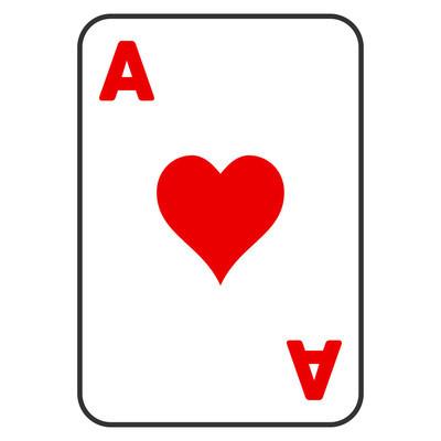 红心王牌纸牌平面图标