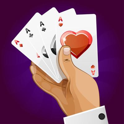 扑克纸牌在手,类似 Jpg 复制