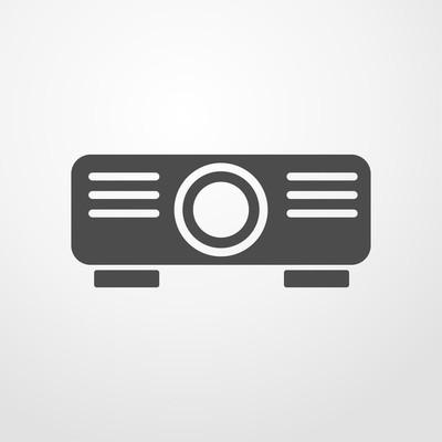 投影仪的图标。投影仪矢量