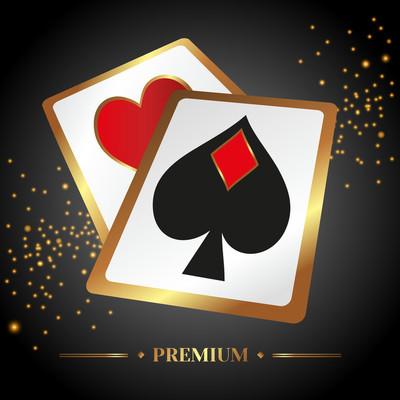 矢量图与扑克赌场主题